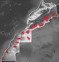 Mapa de distribución de Varanus griseus