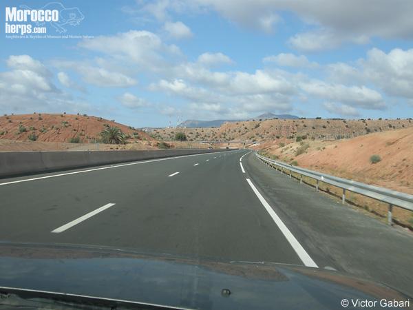 Autopista hacia Agadir